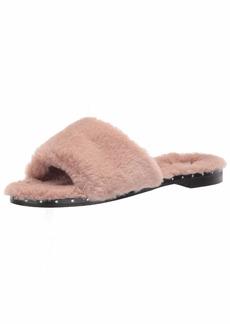 Kenneth Cole New York Women's Peggy Fuzzy Slipper Sandal Slide   M US