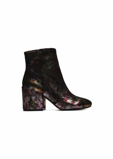 Kenneth Cole New York Women's Reeve Block Heel Metallic Floral Ankle Bootie