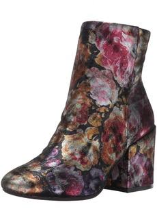Kenneth Cole New York Women's Reeve Block Heel Metallic Floral Ankle Bootie