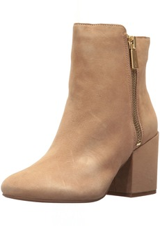 Kenneth Cole New York Women's Rima Bootie with Double Zip Block Heel Suede Boot   M US