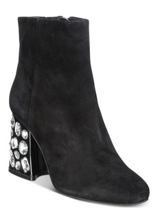 Kenneth Cole New York Women's Rosie Rhinestone Block-Heel Booties Women's Shoes