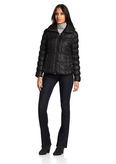 Kenneth Cole New York Women's Rouched Sleeve Packable Down