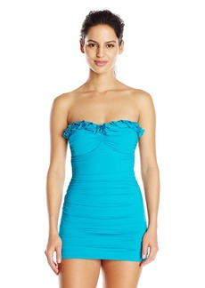 Kenneth Cole New York Women's Sassyfras Bandeau Swim Dress