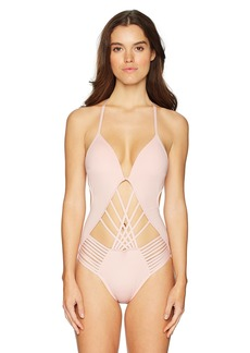 Kenneth Cole New York Women's Sexy Solid Cut Out One Piece Swimsuit  Extra Large