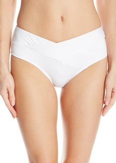 Kenneth Cole New York Women's Sexy Solids Cross Over Hipster Bikini Bottom  L