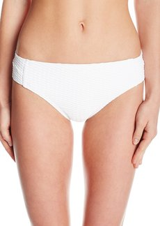 Kenneth Cole New York Women's Shanghi Solid Texture Tab Pant Bikini Bottom  M