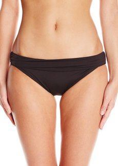 Kenneth Cole New York Women's Shirr Thing Sash Bikini Bottom with Tummy Toner