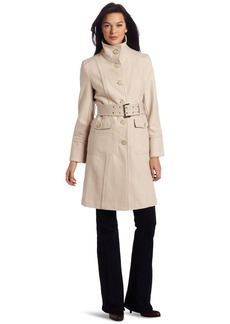 Kenneth Cole New York Women's Single Breasted Button Front Coat