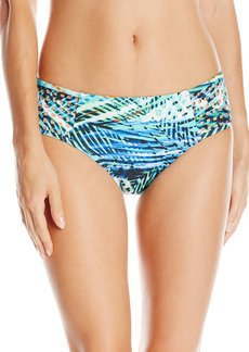 Kenneth Cole New York Women's Sporty Splice Side Side Hipster Bikini Bottom