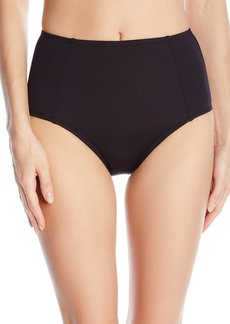 Kenneth Cole New York Women's Stompin In My Stilettos Solid Hi Waist Bikini Bottom
