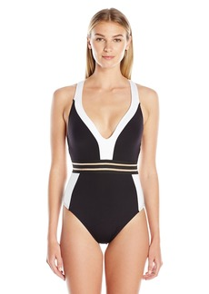 Kenneth Cole New York Women's Stompin In My Stilettos T-Back Mio One Piece Swimsuit