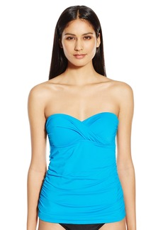 Kenneth Cole New York Women's Strappy Hour Bandeau Tankini