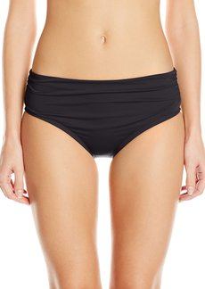 Kenneth Cole New York Women's Strappy Hour Shirred Bikini Bottom
