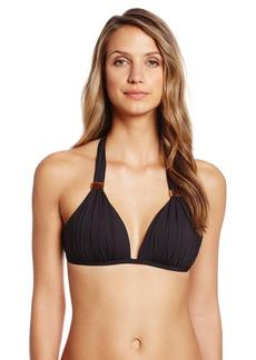Kenneth Cole New York Women's Sunset Cliffs Wireless Push-Up Triangle Bikini Top
