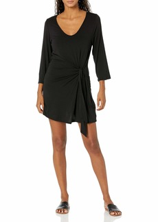 Kenneth Cole New York Women's Tie Front Wrap Dress Swimsuit Cover Up  XL
