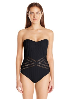 Kenneth Cole New York Women's Bandeau Crotchet One Piece Swimsuit