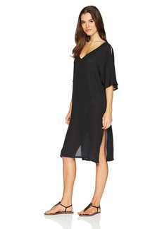 Kenneth Cole New York Women's V-Neck Casual Caftan Cover up Dress  Extra Large