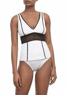 Kenneth Cole New York Women's V-Neck Wide Band Tankini Swimsuit Top