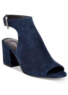 Kenneth Cole New York Women's Val Block-Heel Peep-Toe Booties Women's Shoes