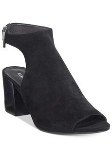 Kenneth Cole New York Women's Val Block-Heel Peep-Toe Booties Women's Shoes