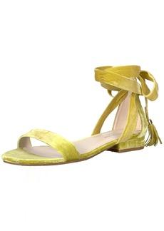 Kenneth Cole New York Women's Valen Strappy Ankle Wrap Tassel Velvet Sandal  8.5 Medium US