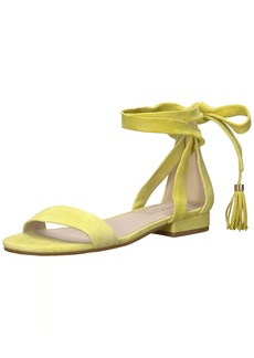 Kenneth Cole New York Women's Valen Strappy Ankle WrapSandal with Tassel Flat Sandal   M US