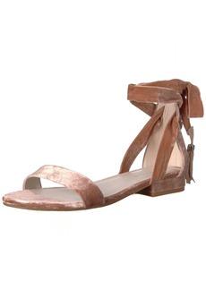Kenneth Cole New York Women's Valen Strappy Sandal with Ankle WRAP Tassel Velvet   Medium US