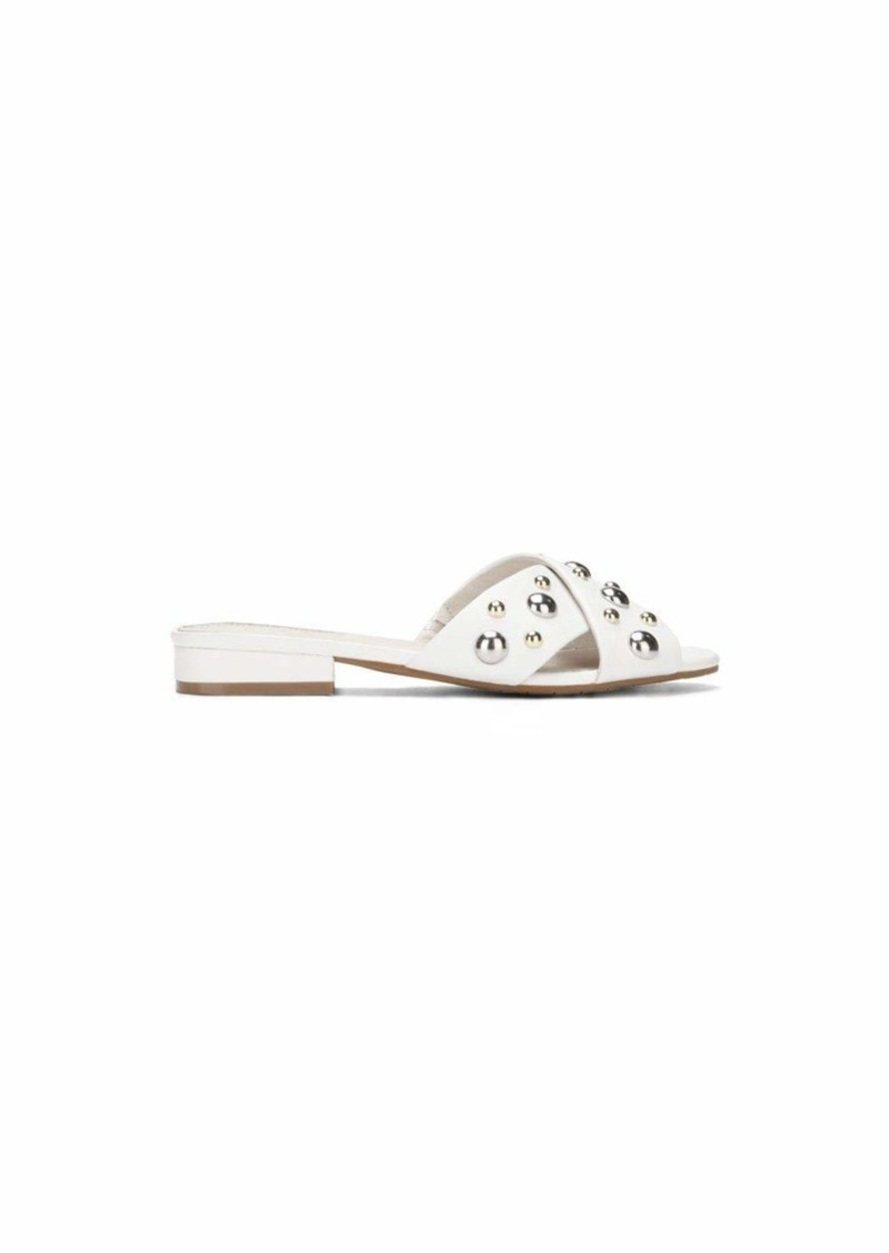 Kenneth Cole New York Women's Verna Stud X-Band Flat Sandal   M US