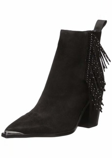Kenneth Cole New York Women's WEST Side Fringe Bootie RB Studs Fashion Boot   Medium US