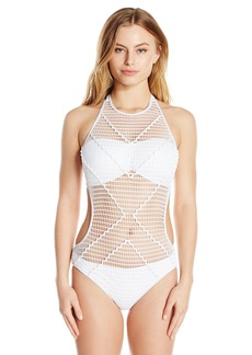 Kenneth Cole New York Women's Wrapped in Love Monokini One Piece Swimsuit  M