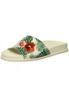 Kenneth Cole New York Women's Xenia Palm Print Embroidered Pool Slide Sandal