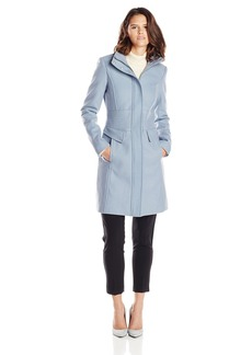 Kenneth Cole New York Women's Zip Front Wool Coat with Pockets