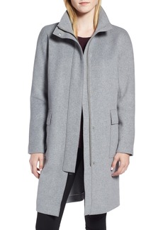 Kenneth Cole New York Wool Blend Long Coat (Regular & Petite)