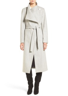 Kenneth Cole New York Wool Blend Maxi Wrap Coat