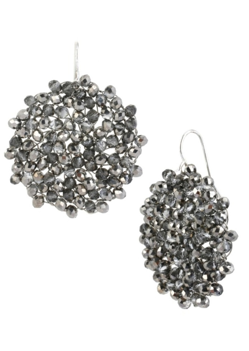 Kenneth Cole New York Woven Faceted Bead Drop Earring