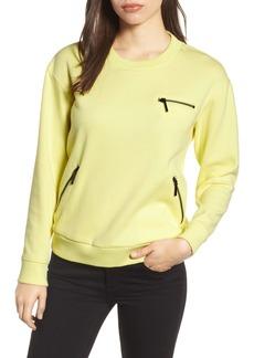 Kenneth Cole New York Zip Detail Sweatshirt