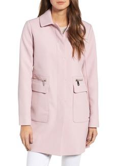 Kenneth Cole New York Zip Pocket A-Line Coat