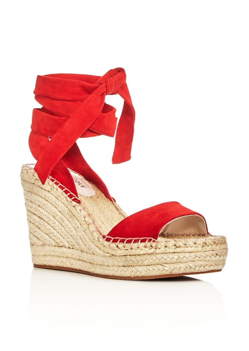 SALE! Kenneth Cole Kenneth Cole Odile Ankle Tie Espadrille Wedge Sandals