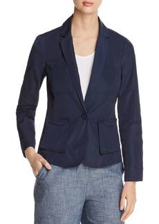 Kenneth Cole One-Button Utility Blazer