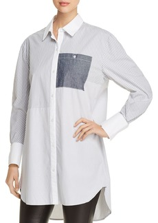 Kenneth Cole Oversize Striped Patchwork Tunic