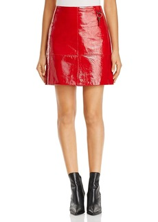 Kenneth Cole Patent Leather Mini Skirt