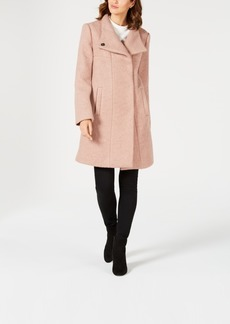 Kenneth Cole Asymmetrical Boucle Walker Coat