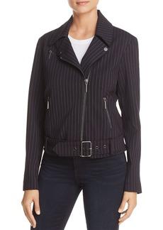 Kenneth Cole Pinstripe Moto Jacket
