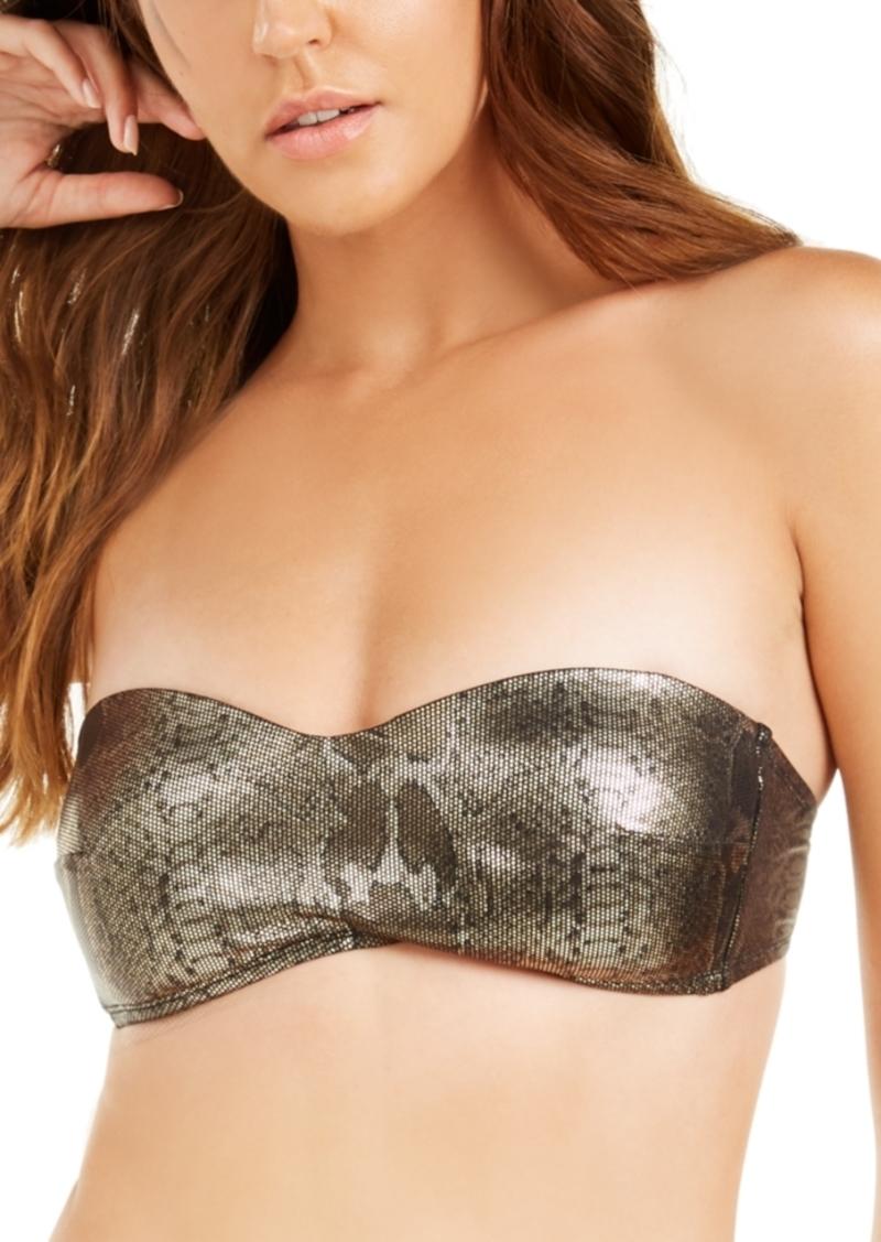 Kenneth Cole Precious Metals Printed Bandeau Bikini Top Women's Swimsuit