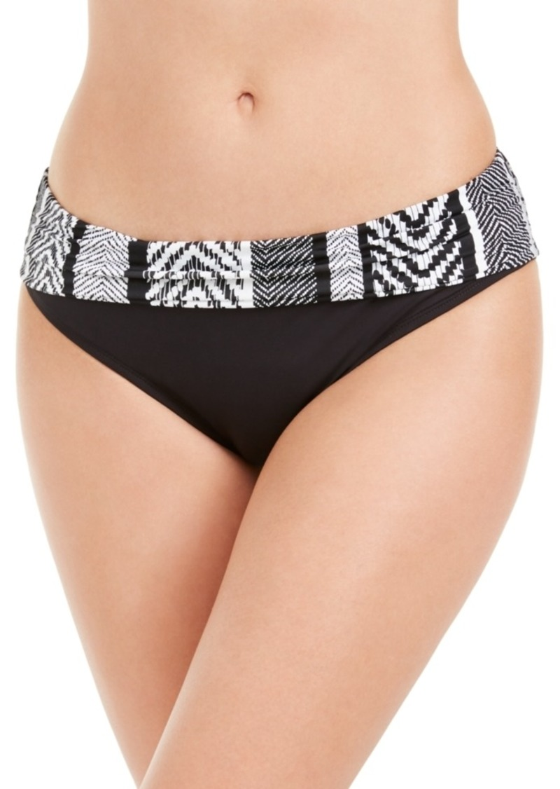 Kenneth Cole Printed-Waist Hipster Bikini Bottoms Women's Swimsuit