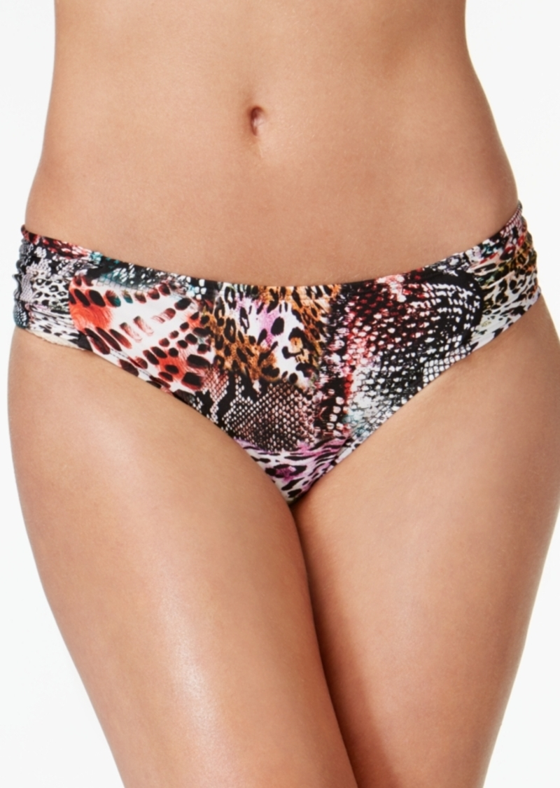 Kenneth Cole Pure Instincts Printed Sash-Tab Bikini Briefs Women's Swimsuit
