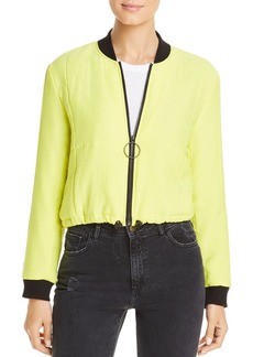 Kenneth Cole Quilted Puffer Bomber Jacket