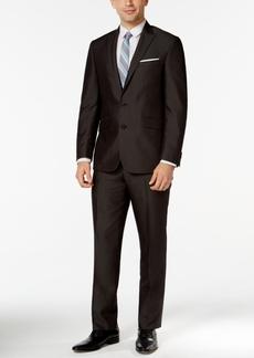 Kenneth Cole Reaction Black Micro-Stripe Slim-Fit Suit