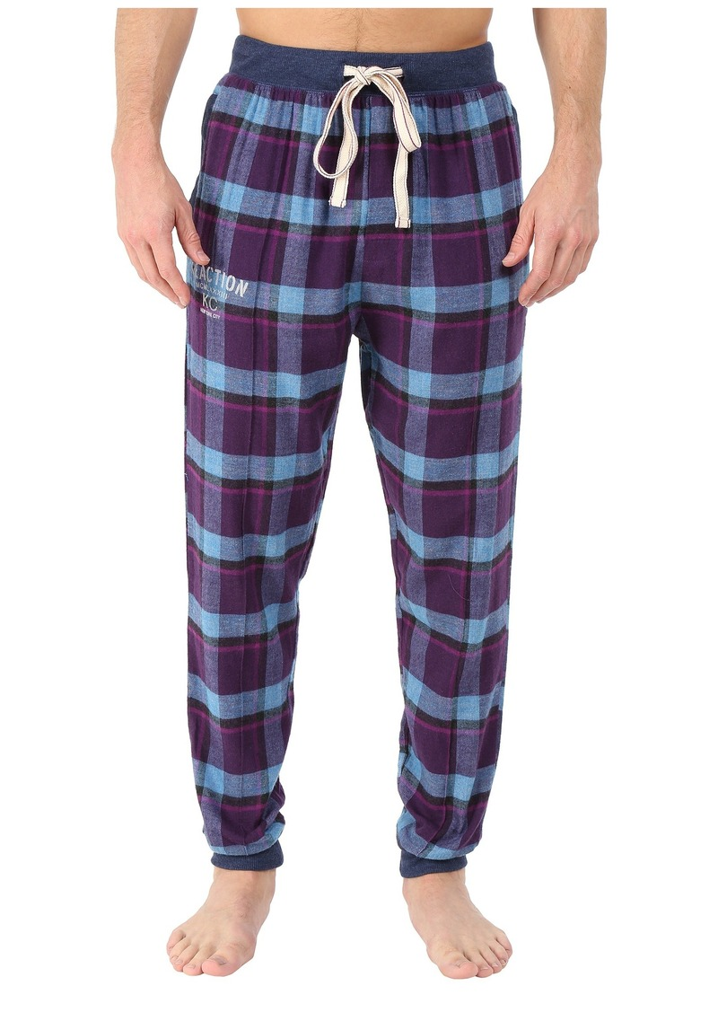 Kenneth Cole Reaction Cuffed Flannel Pants
