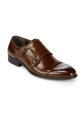 Kenneth Cole Double Monk-Strap Leather Dress Shoes